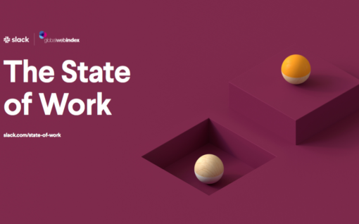 Front cover of The State of Work report by Slack