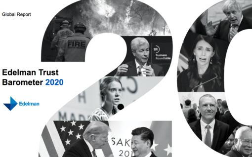 Cover shot for Edelam Trust Barometer report 2020
