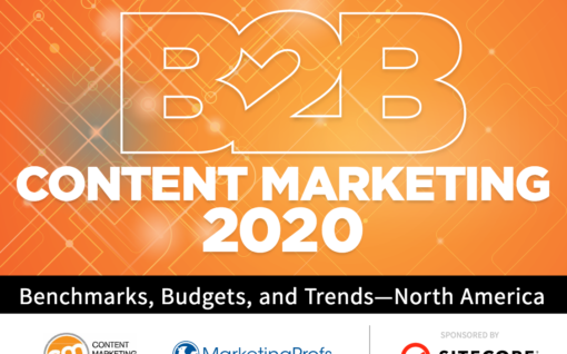 Cover of the B2B Content Marketing 2020 report from the Content marketing Institute