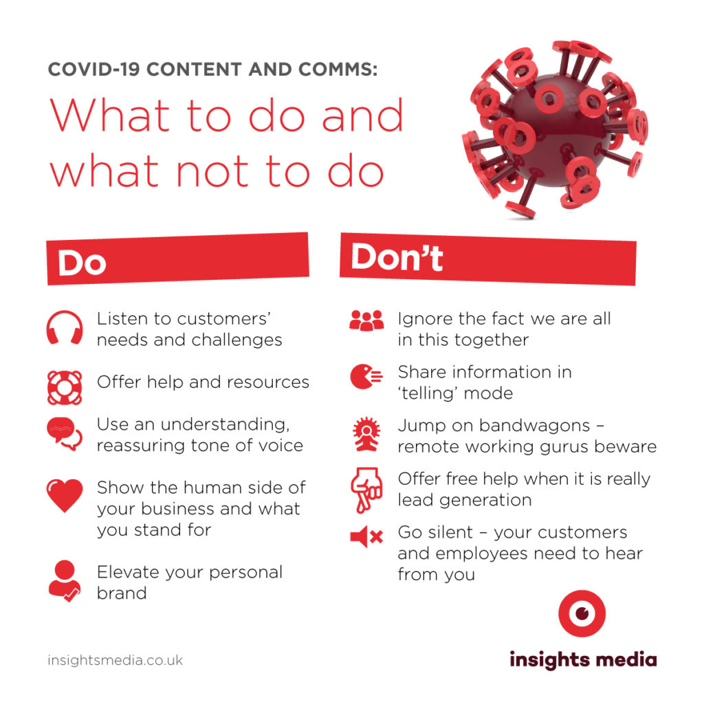 Covid-19 content and comms: what to do and what not to do