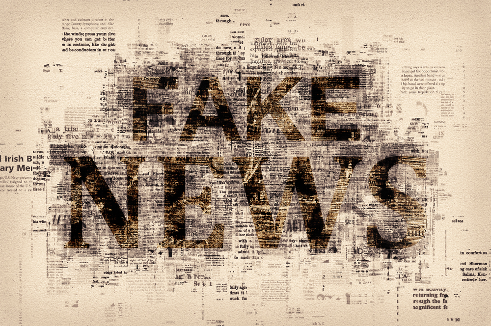 the words fake news