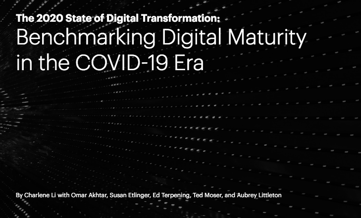 Report cover for The 2020 State of Digital Transformation: Benchmarking Digital Maturity in the COVID-19 Era