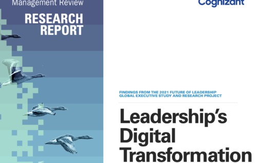 Cover shot of MIT research Leadership's digital Transformation